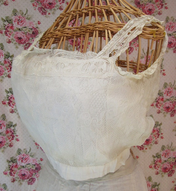 Edwardian Camisole, Victorian Corset Cover, Lacy C