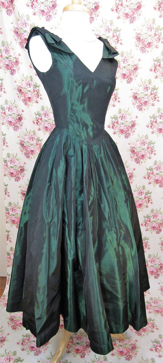 Vintage Laura Ashley Dress Size XS Vintage Green … - image 9