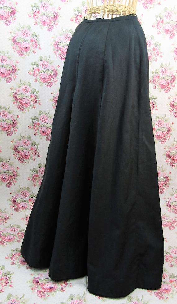 Antique Edwardian Full Length Skirt Size XS Long … - image 3