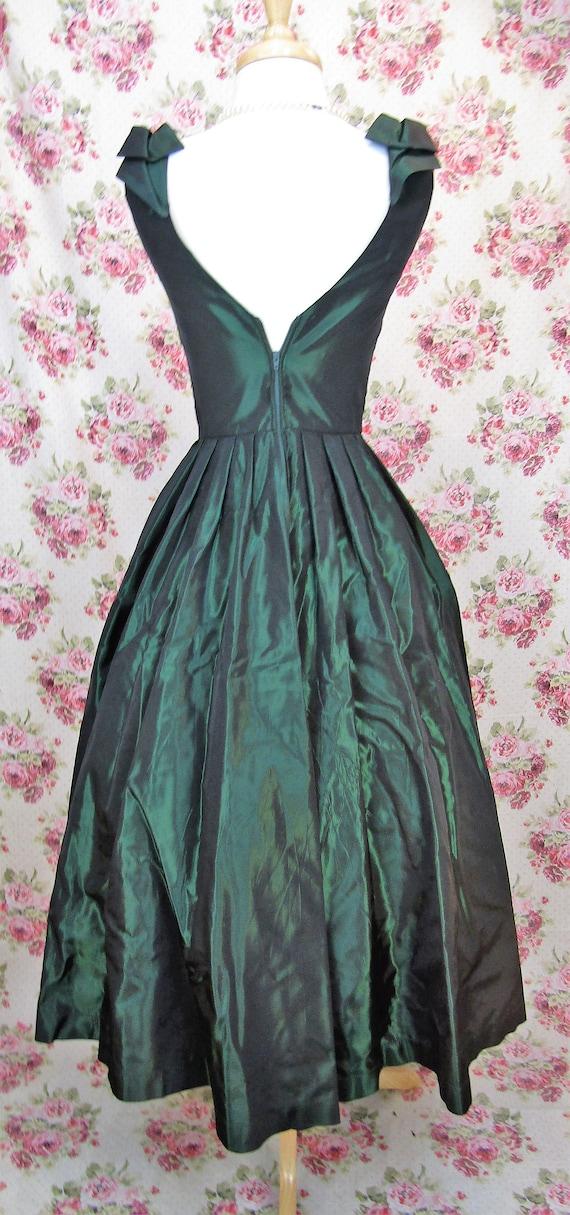 Vintage Laura Ashley Dress Size XS Vintage Green … - image 6