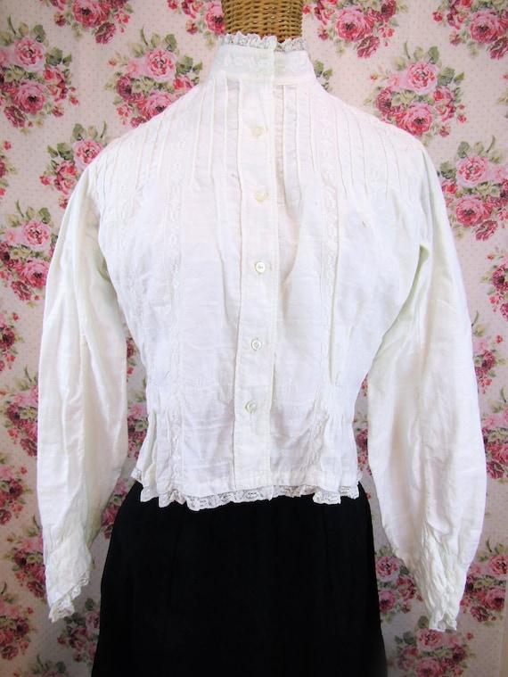 Victorian Blouse Size XS 1800s Victorian Shirtwai… - image 2