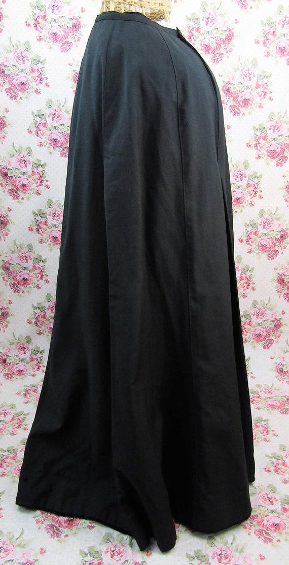 Antique Edwardian Full Length Skirt Size XS Long … - image 5