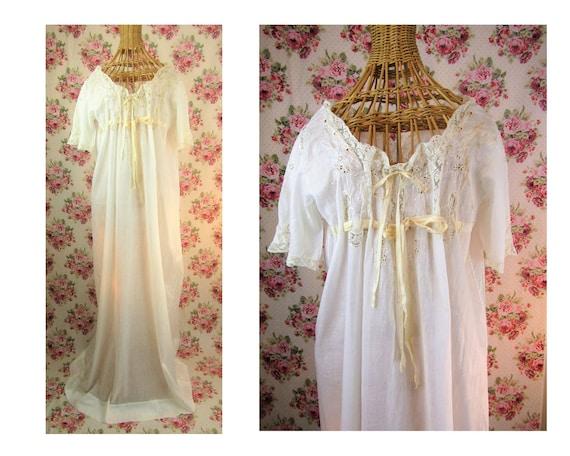 Antique Edwardian Nightgown Size Medium Romantic E