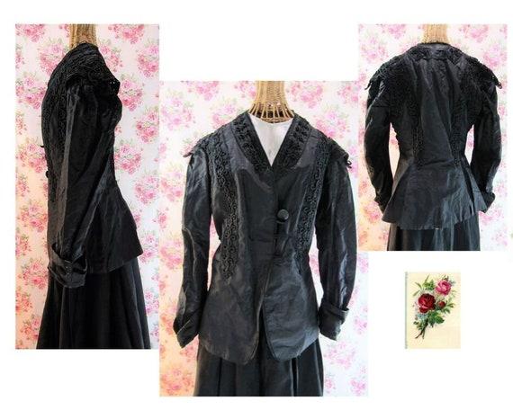 Antique 1880s Victorian Bodice Jacket Size M-L 180