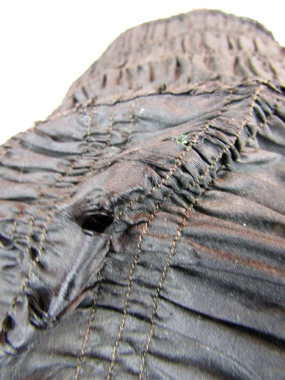 Antique Mourning Bonnet Antique Civil War Era Bon… - image 5