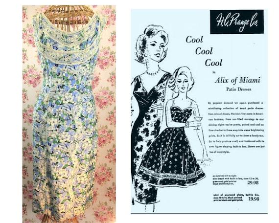 1950s Patio Dress Size S/M Alix of Miami Vintage 5