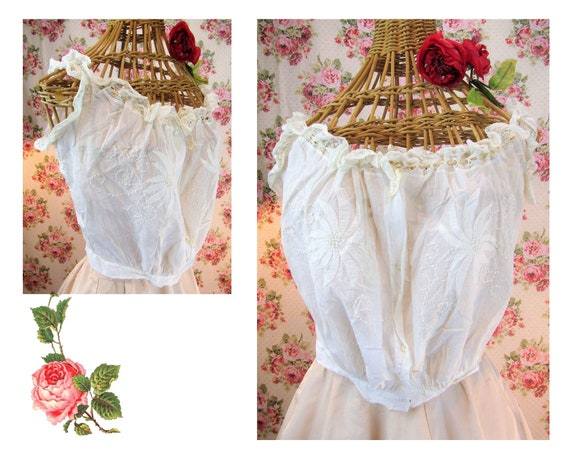 Edwardian Corset Cover Size Small Antique Camisole