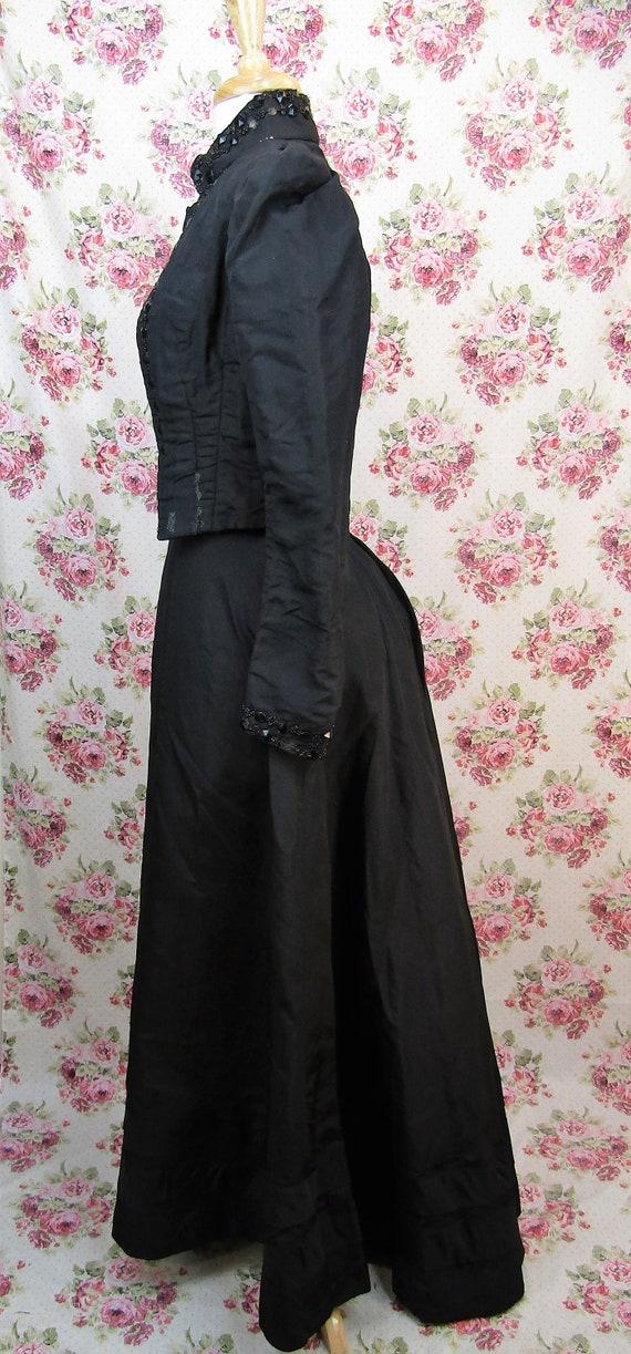 Victorian Walking Suit Size XXS Antique 1890's Bu… - image 3