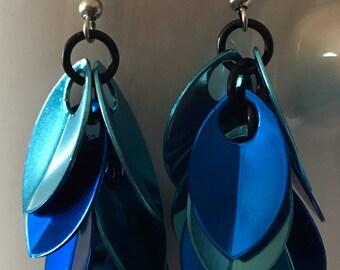 Blue Scale Earrings