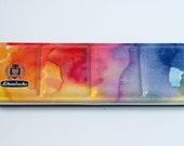 24 Colours Schmincke Watercolor Palette ** 24 Half Pans ** Limited Edition -  Rainbow Tin + Da Vinci Brush - vegan