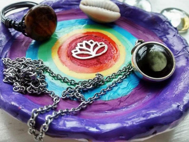 Lotus Flower Chakra Jewelry Plate-Jewelry Dish