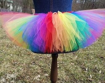 1d546647ea Adult Rainbow Tutu, Adult Tutu, Plus Size Tutu, Rainbow Pride Tutu, Gay  Pride Tutu, Parade Tutu, March Tutu, Clown Tutu, Rainbow Skirt, Tutu