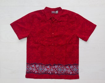 Hawaiian red floral patterned shirt Xtreme Limit