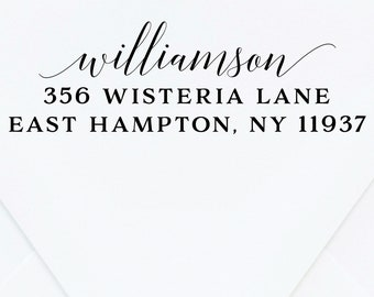 Return Address Stamp, Custom Stamp, Wooden Stamp, Wood Address Stamp, Personalized Address Stamp, Wedding Stamp, Stamp with Handle, Ink Pad