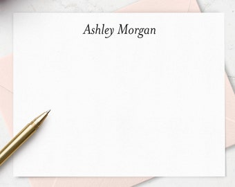 Personalize Note Cards with Envelopes Boxed Stationery Set, Personalized with a Name, Set of 10 Choose Your Colors, Gift for Her