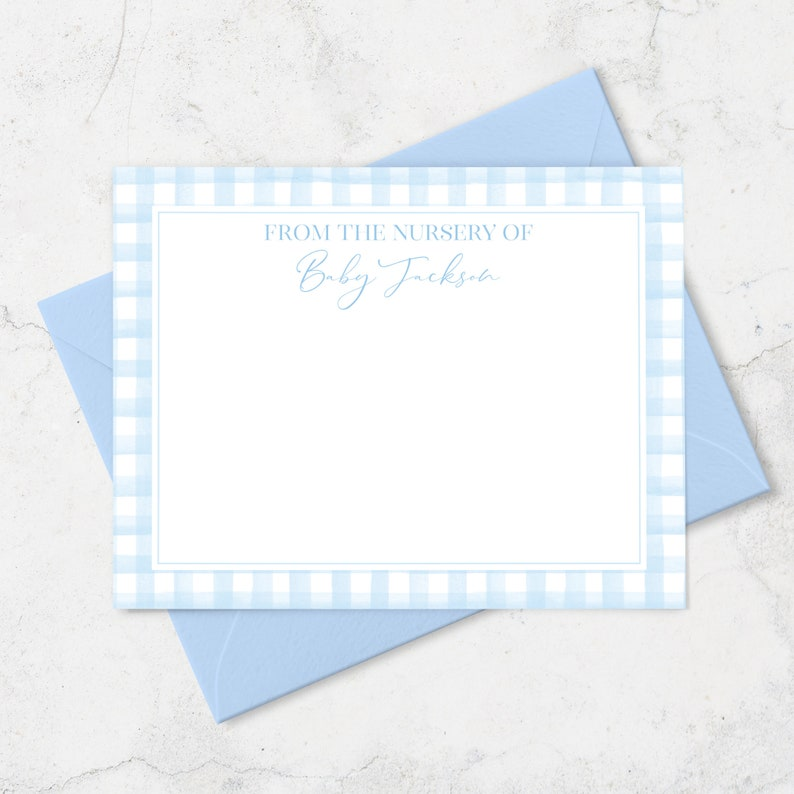 Baby Shower Thank You Cards Personalized Baby Note Cards with image 0