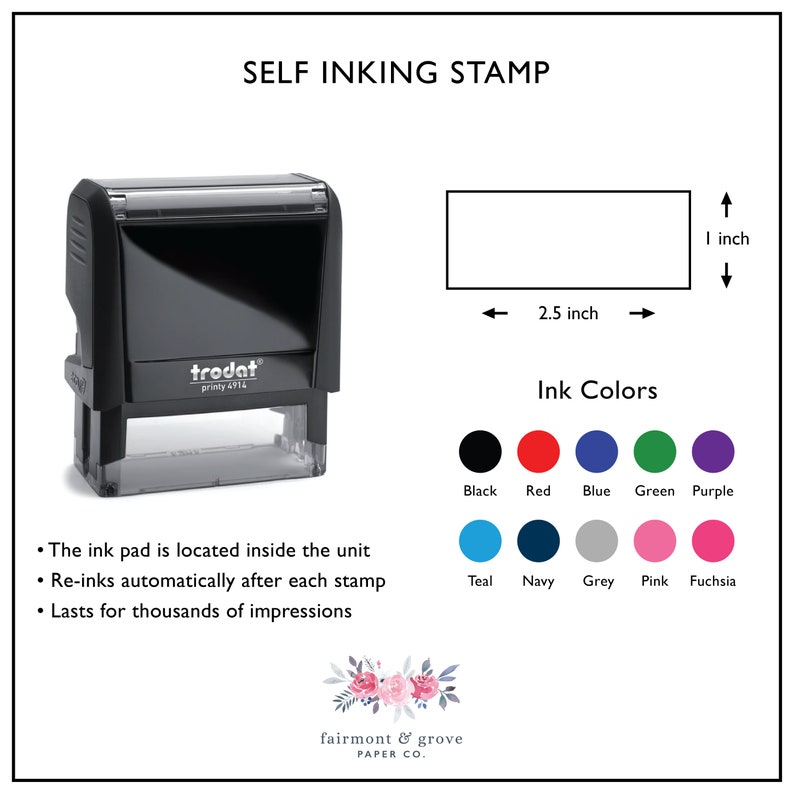 Custom Engagement Gift Wooden Wedding Stamp Self Inking Stamp for Housewarming Gift Personalized Return Address Stamp
