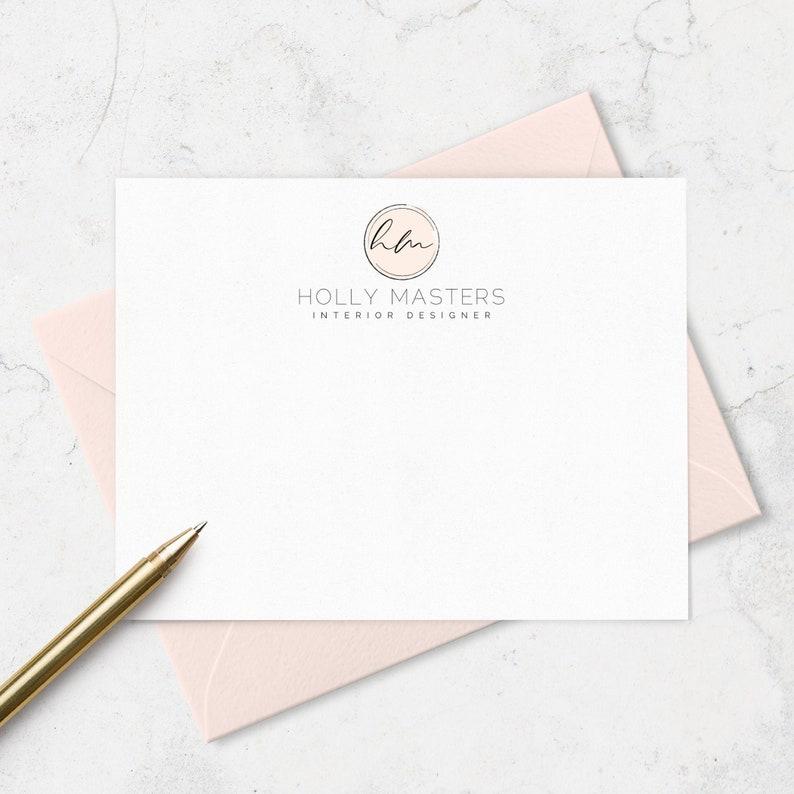 Logo Note Cards & Envelopes for Shop or Business Custom image 0