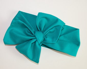 Teal Solid Headwrap