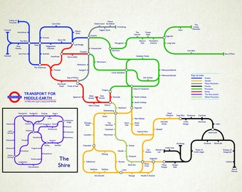 Middle-Earth Tube Map