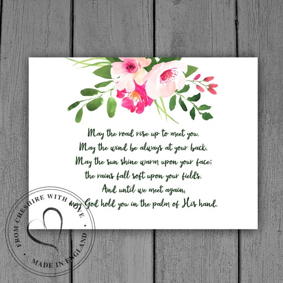 Irish Blessing Floral Quote Print Perfect To Frame In Your Etsy