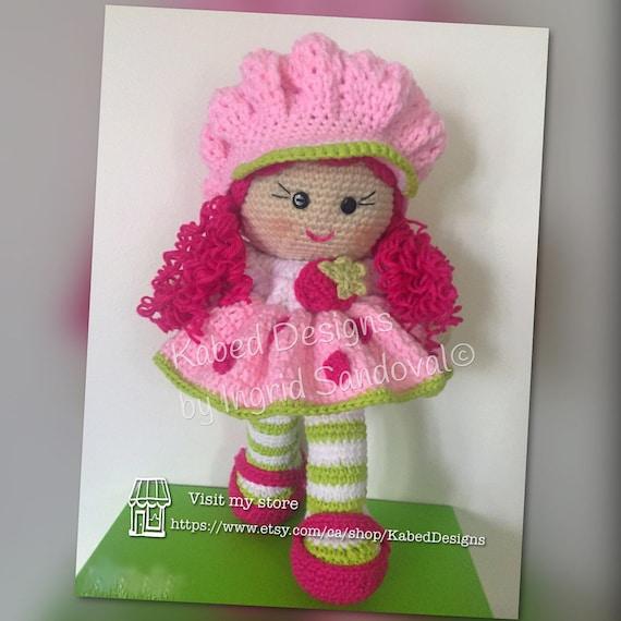 Strawberry Shortcake Crochet Doll Handmade Doll Crochet Etsy