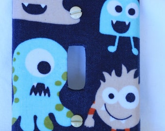 Cute monsters Light Switch Cover