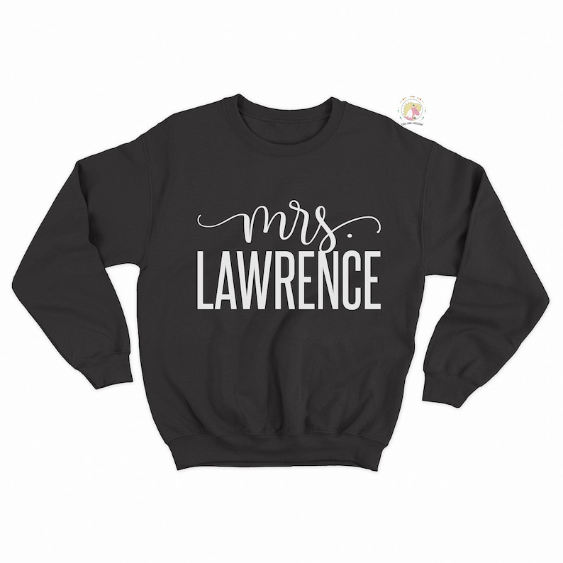 Mrs Sweatshirt Honeymoon Shirts Personalized Bride Gift Engagement Gift Mrs Gifts Gift for the Bride To Be Bridal Shower Gift Wedding