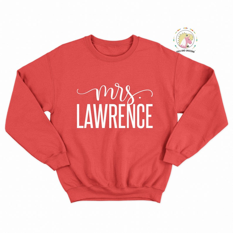 ee5a56e7a Personalized Future Mrs Last Name Shirt Unisex Sweatshirt   Etsy