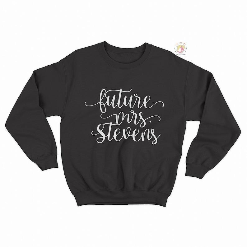 2b8056b0a Future Mrs Custom Last Name Sweatshirt Wife Shirt Bride | Etsy