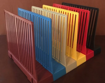 Vintage Desk File Dividers Multicolored Set Of 6 Eldon Office Products Made  In USA