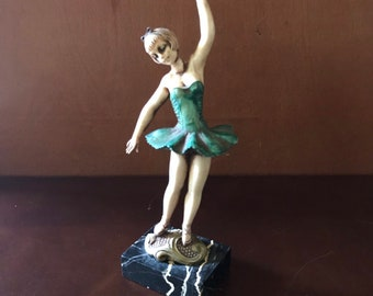 63c91964ac Depose Italy Ballerina Figurine on Carrara Marble Base