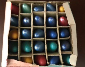 Vintage Christmas Bulbs Set of 25 in Original Box