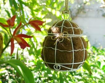 Bird Nester, Llama Fibre Nesting Material, Bird lover gift, gardener's gift idea, Boxed Mother's Day Gift for yard, housewarming gift