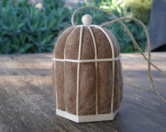Small Native Bird Nester with Llama Fibre, Garden decor, Eco Gift, Nesting Material, Gardener Gift, Bird Gift, Organic Gifts, Gift for Mom