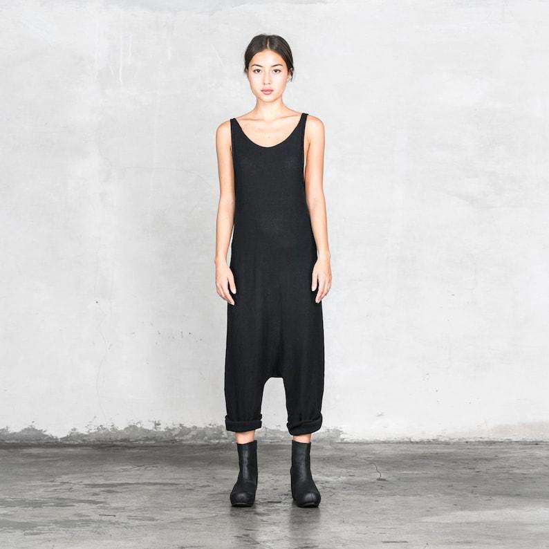 03ecef27cef9 SHADOW JUMPSUIT ONESIE Suit Black Knit Women s Tank