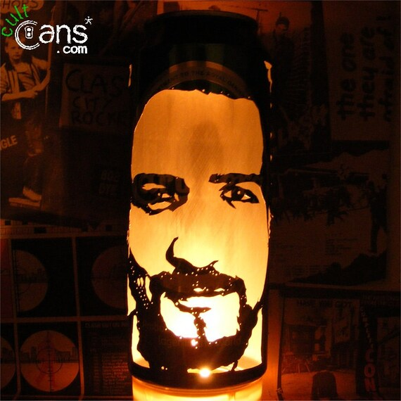 Janis Joplin Beer Can Lantern Pop Art Portrait Candle Lamp Unique Gift!