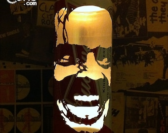 Jack Nicholson 'The Shining' Beer Can Lantern: Pop Art Portrait Candle Lamp - Unique Gift!