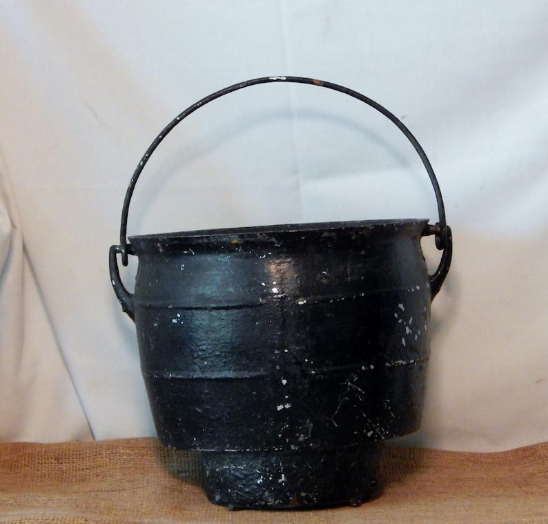 Cast Iron Cauldron  stew pot  bean pot  Upcycled Planter