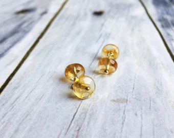 Genuine Citrine cufflinks, solar plexus stone, November birthday gift, unique fathers day gift, unisex cufflinks, golden yellow sunshine