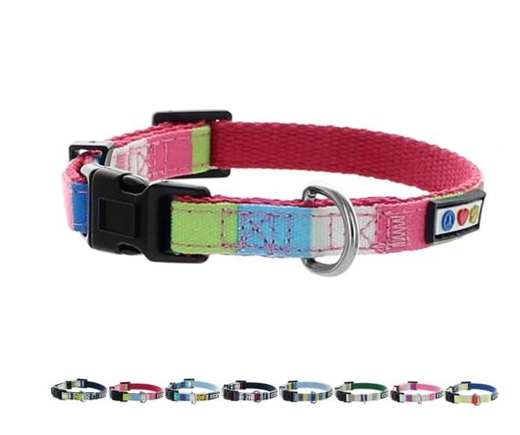 Pawtitas Collar Trafico para mascostas Collar de Entrenamiento Collar Reflectante Extra peque/ño Collar de Perro Azul Collar de Perro