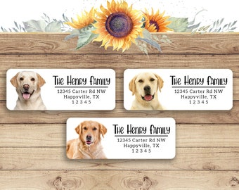 Jx 346 Personalized Address Labels Baby Labradors Dogs Buy 3 get 1 free