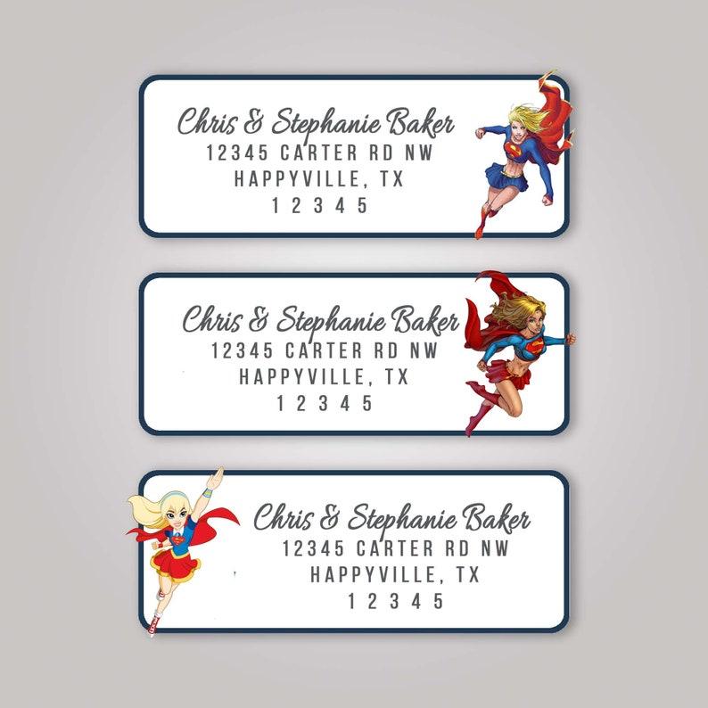 Supergirl Superwoman DC Return Address Labels Professional Cheap Package A 60