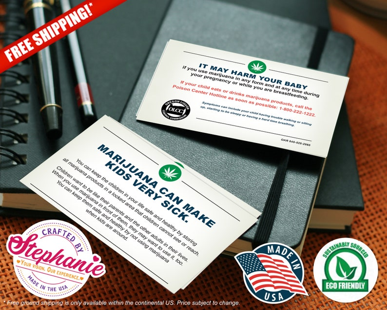 Oregon Health Authority Legal Recreational and Medical Marijuana Messaging  Cards Cheap Fast