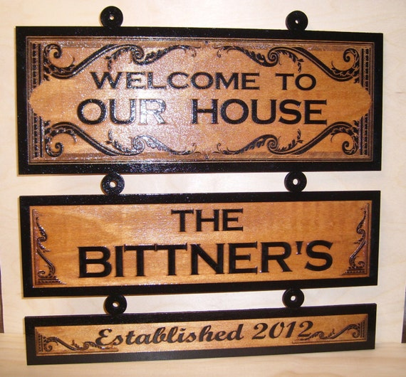 welcome signs personalized - 1000×754