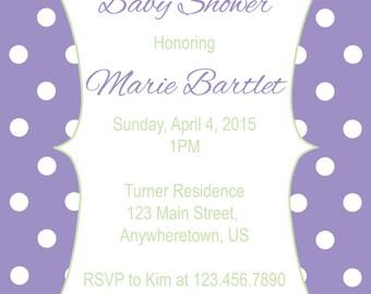 Polka Dot Baby Shower Invitiation