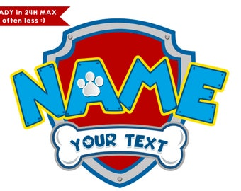 Paw patrol logo customized high resolution