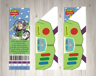 Ticket invitation and its envelop in instant download