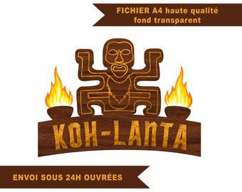 Koh Lanta logo with high resolution custom first name