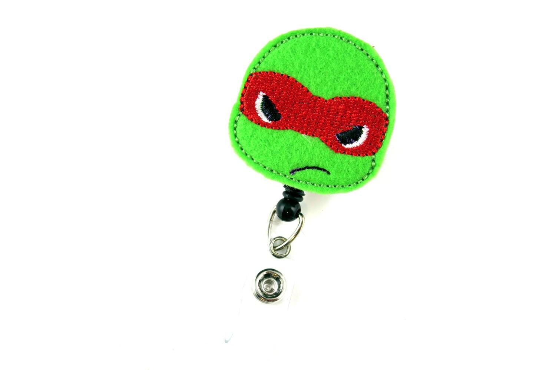 Tortue ninja teenage r tractable id badge badge porte nom etsy - Tortu ninja nom ...